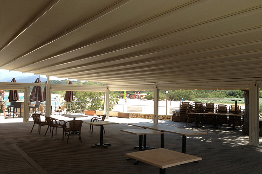 Pergola Covers for Hotels