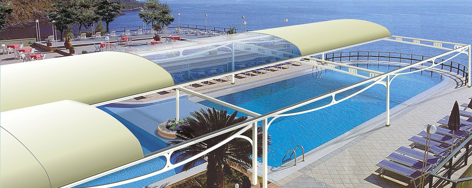 Pool Enclosures by litra for hotel