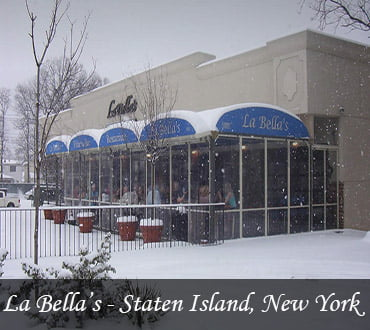 Reference of La Bella's Restaurant patio enclosures by LITRA