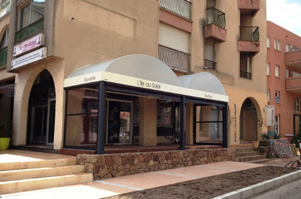 LITRA Retractable Patio Roofs for L'ile Au Soleil Boutique