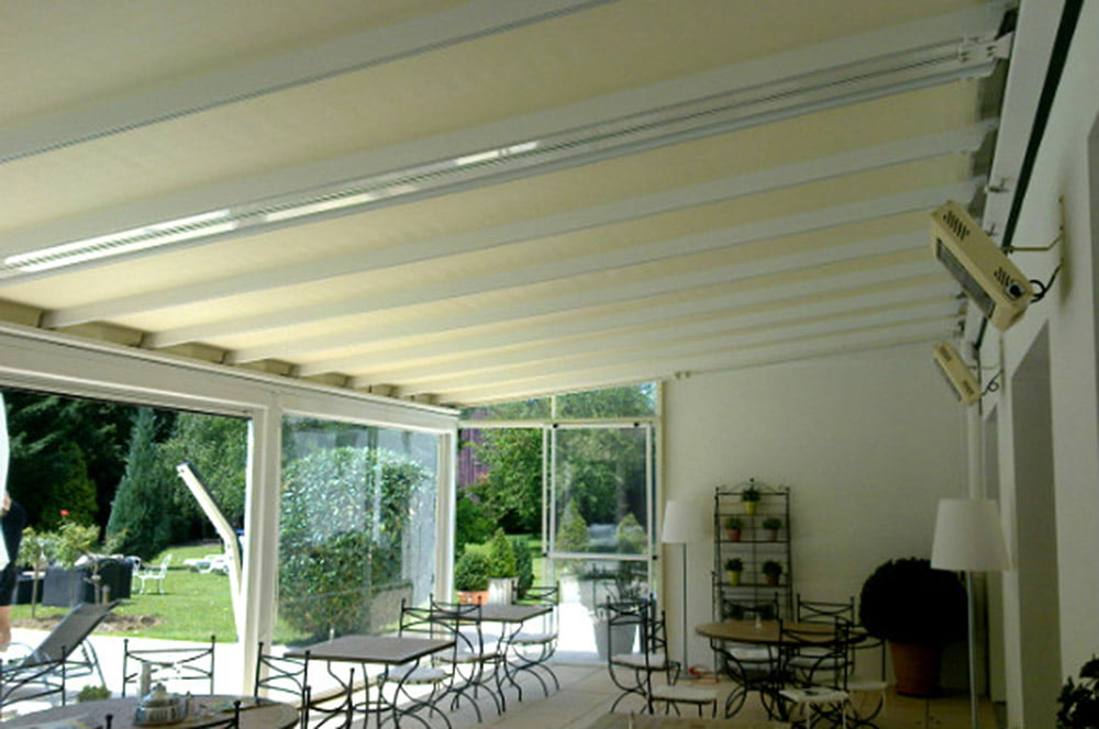 Litra Retractable Pergola Covers for Les Jardin d'Alderic