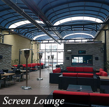 Screen Lounge Retractable Roof