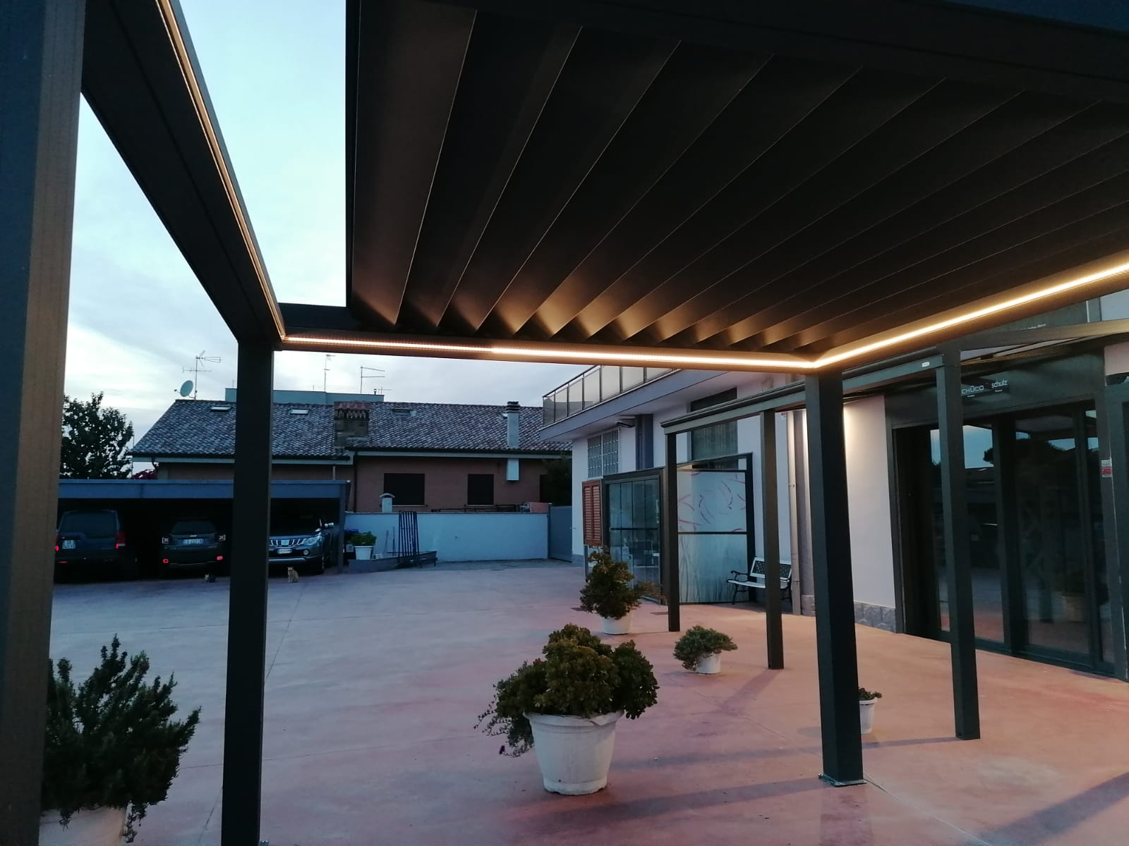 Louvered Roof open